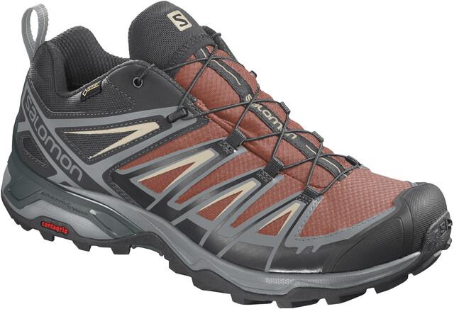 Salomon X Ultra 3 GTX Shoes Herren burnt brickblackbleached sand